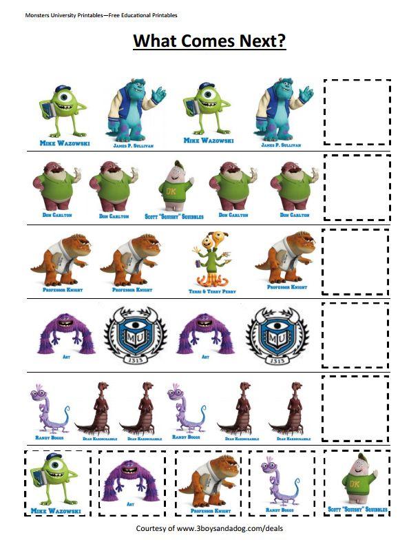 Disney Math Activities For Preschoolers
