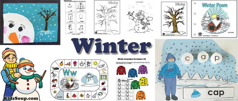 Winter preschool activities lessons. Crafts clipart art lesson