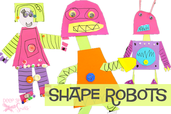 Activities clipart art project. Shape robot deep space