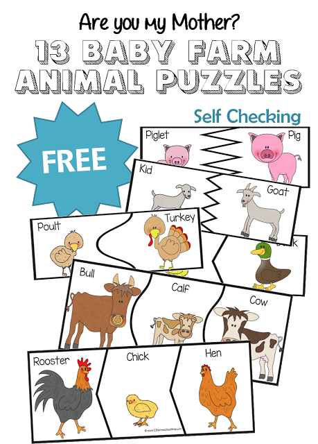 Free animal puzzles total. Activities clipart baby