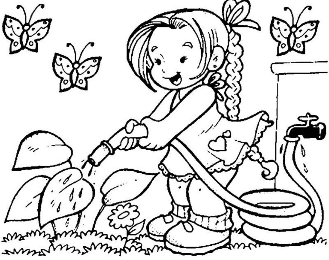 Awesome spring collection digital. Activities clipart black and white