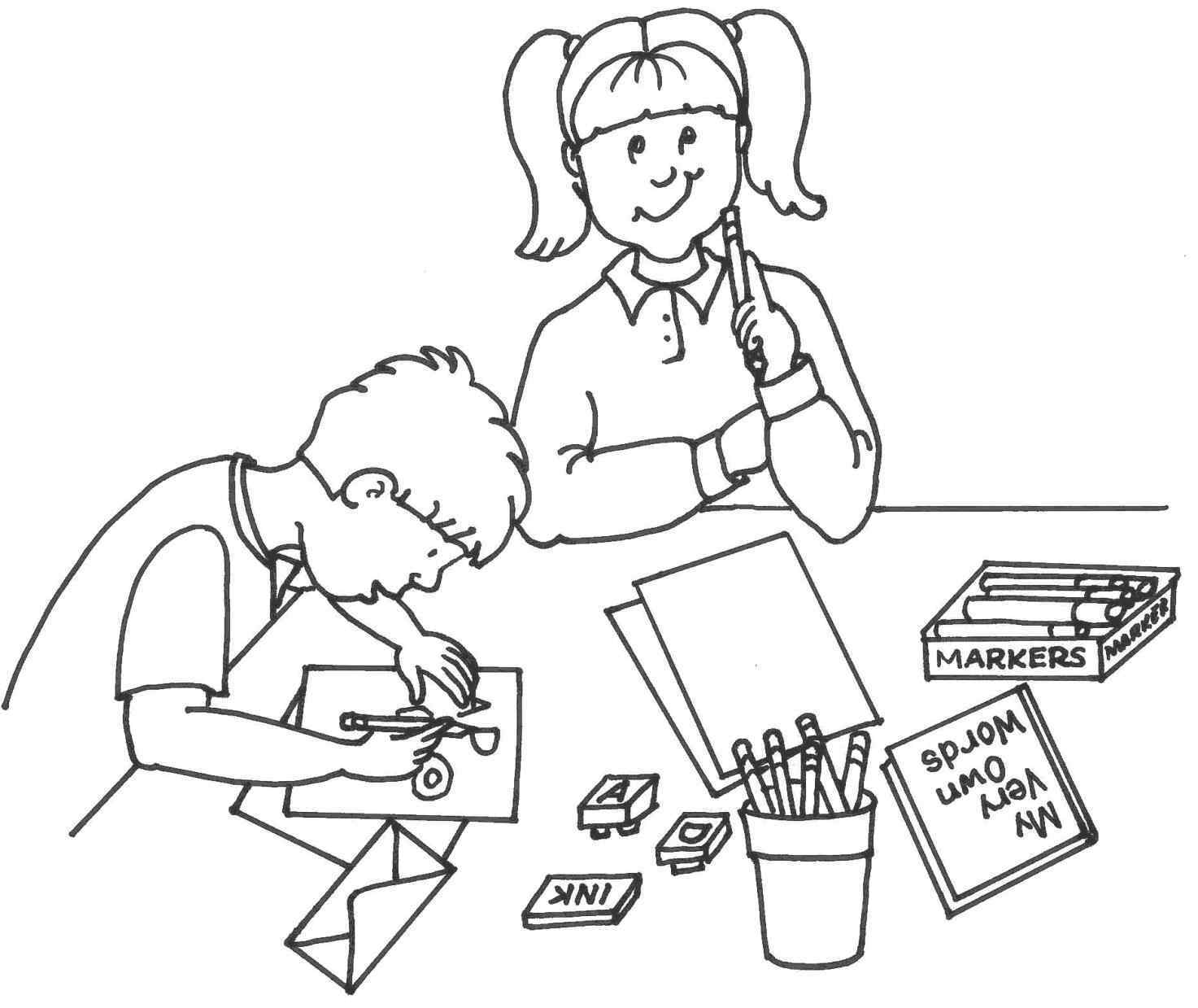 Activities clipart black and white. Coloring valentineus day lessons
