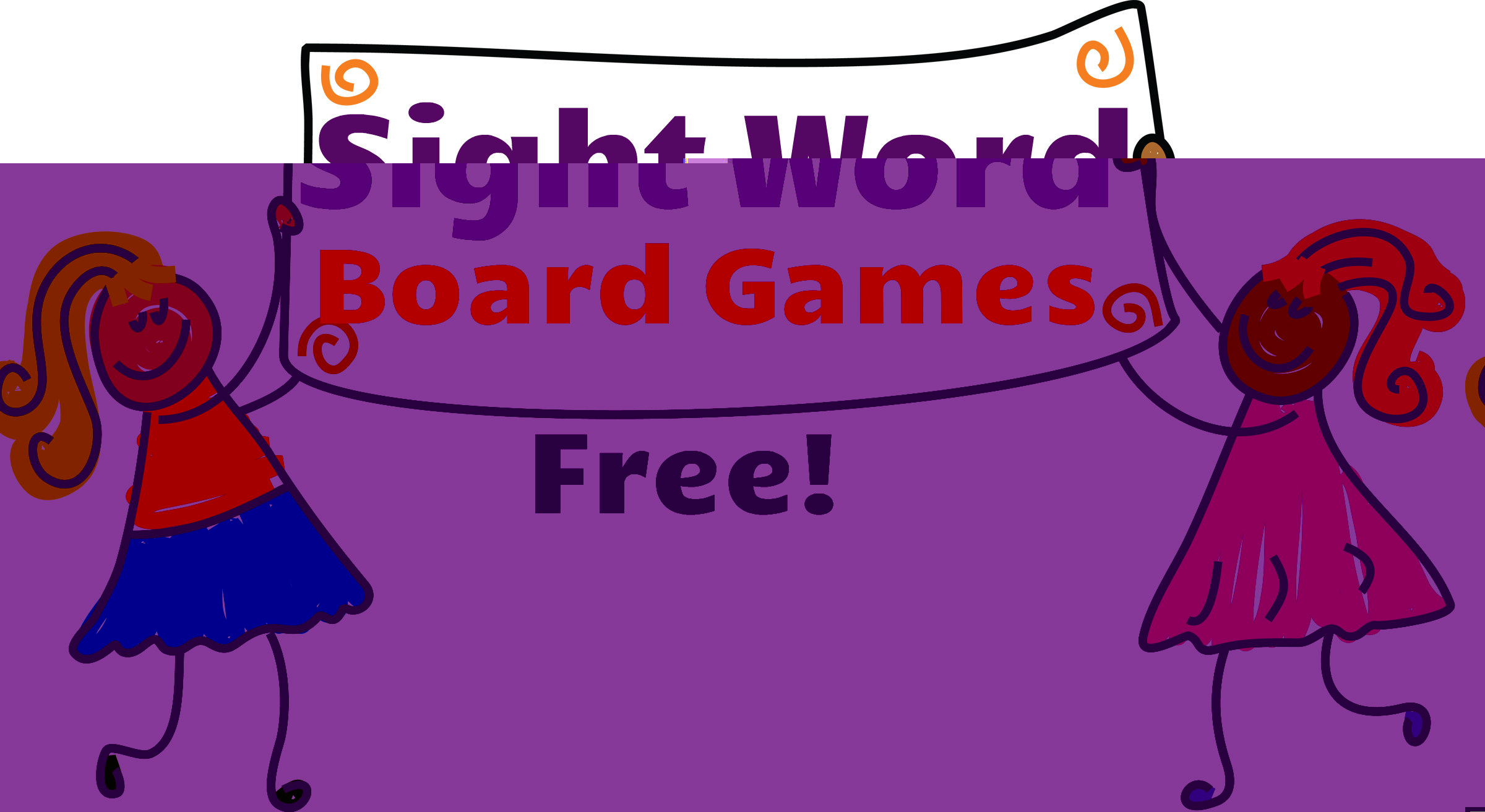 Activities clipart board game. Sight word games free