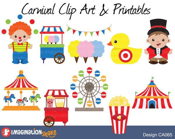 Clip art printables set. Circus clipart carnival