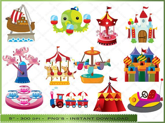 Activities clipart carnival. Clip art digital kids