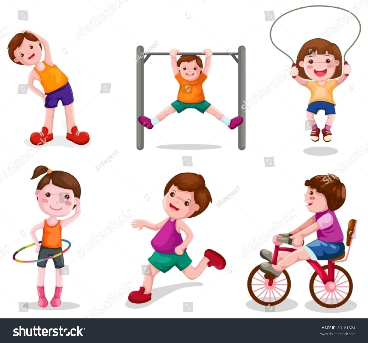 Activities clipart child activity. Illustration of isolated set