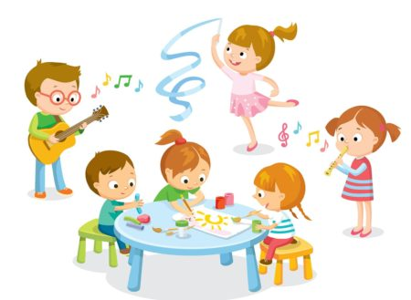 Hobby classes for kids. Activities clipart child activity