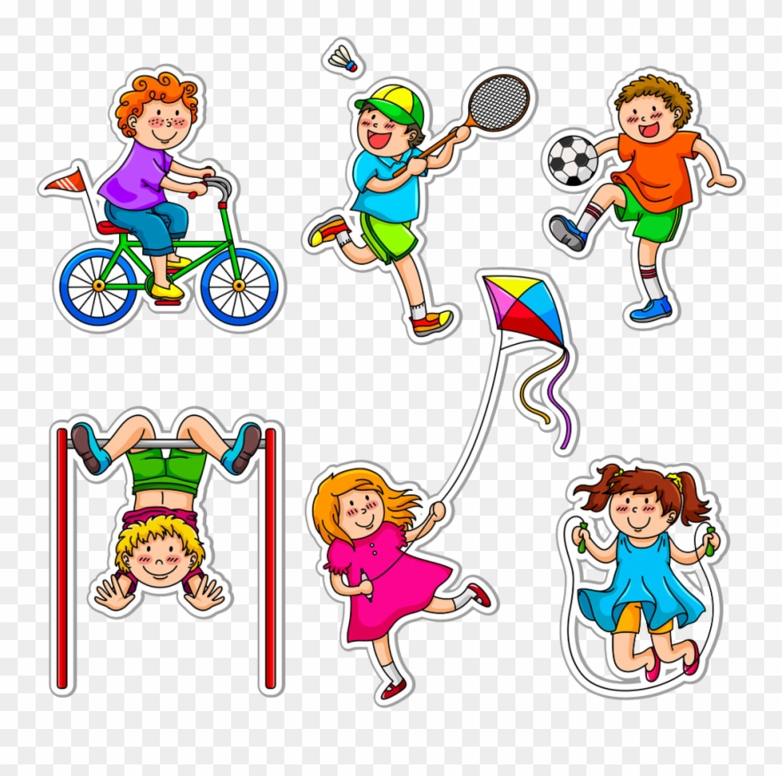 Exercise clipart different exercise. Physical child fitness stretching