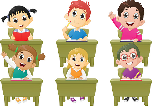 collection of students. Activities clipart classroom
