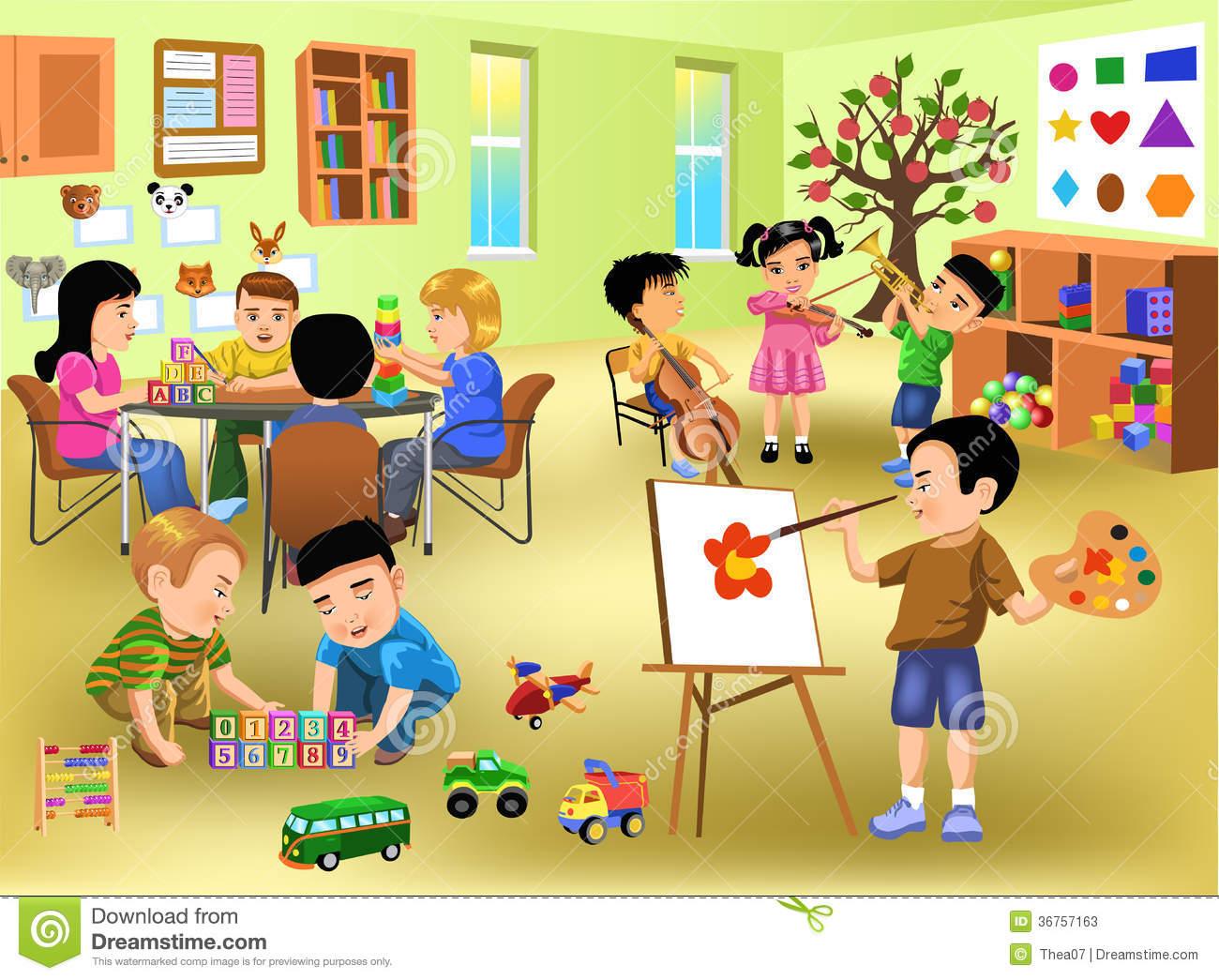 Kindergarten . Activities clipart classroom