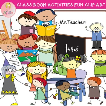 Doodle fun clip art. Activities clipart classroom
