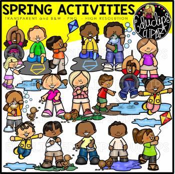 Spring bundle educlips . Activities clipart clip art