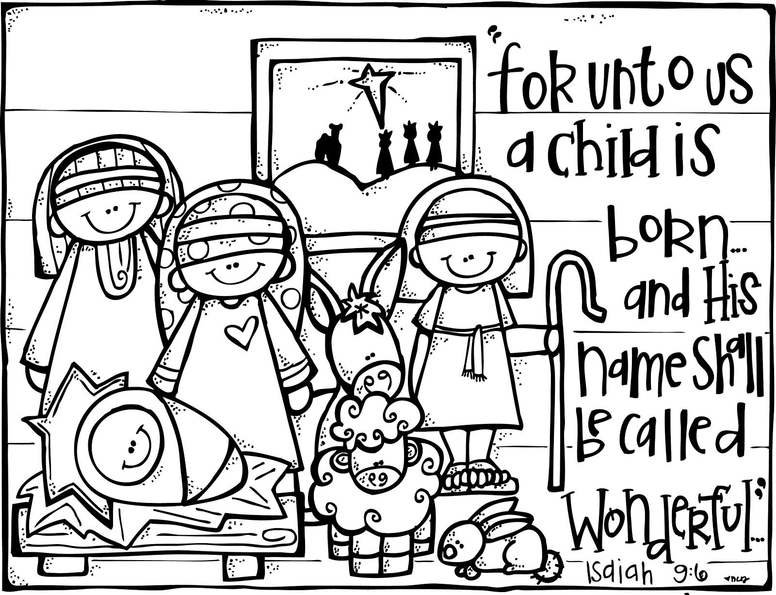 Activities clipart coloring. Christian christmas free nativity