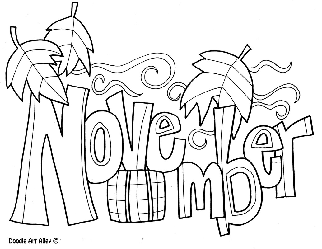 Activities clipart coloring. Months of the year
