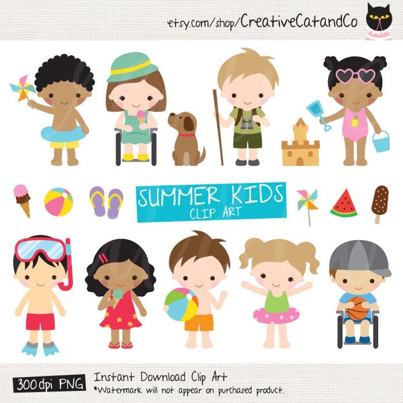 California clipart kid. Summer kids activities clip