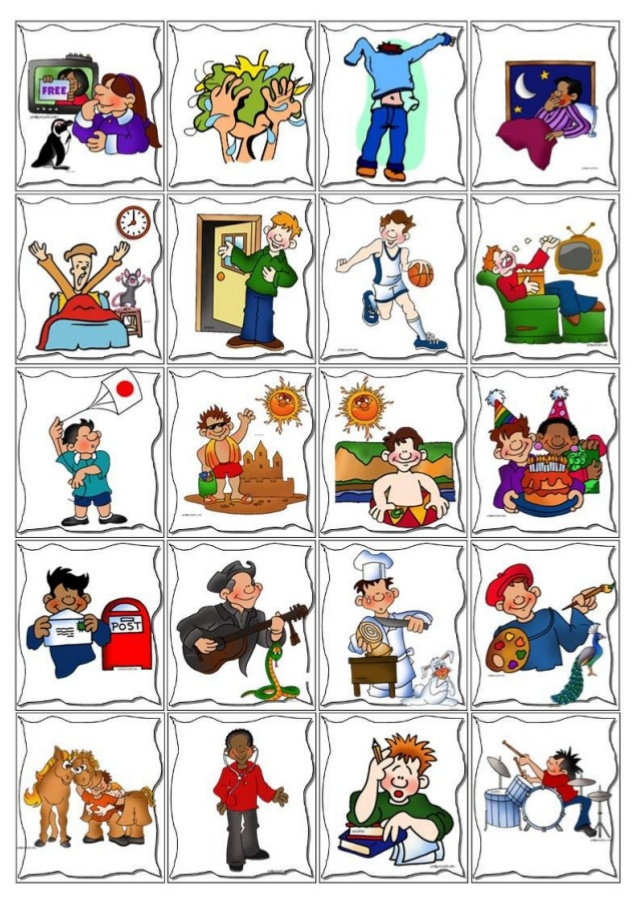Routine . Activities clipart daily