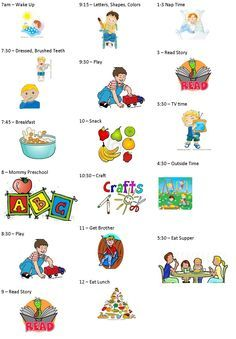 Activities clipart daily. Sample daycare schedule for