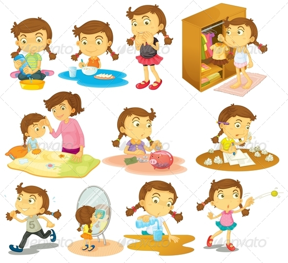 Activities clipart daily. Girl s by interactimages