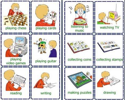 Activities clipart daily routine. Clip art routines flashcards