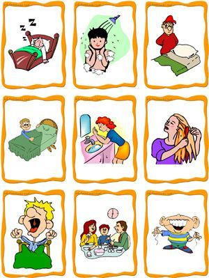 best brain and. Activities clipart daily routine