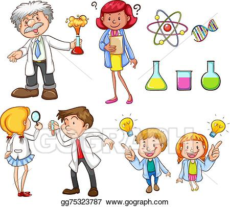 Vector art people doing. Activities clipart drawing
