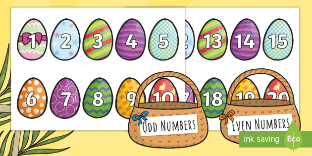 Activities clipart easter. Odd and even number