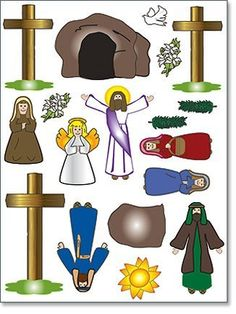 Activities clipart easter. Magnet set story ideas