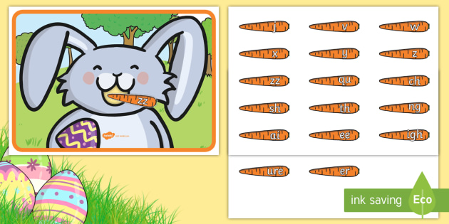 Feed the bunny phase. Activities clipart easter