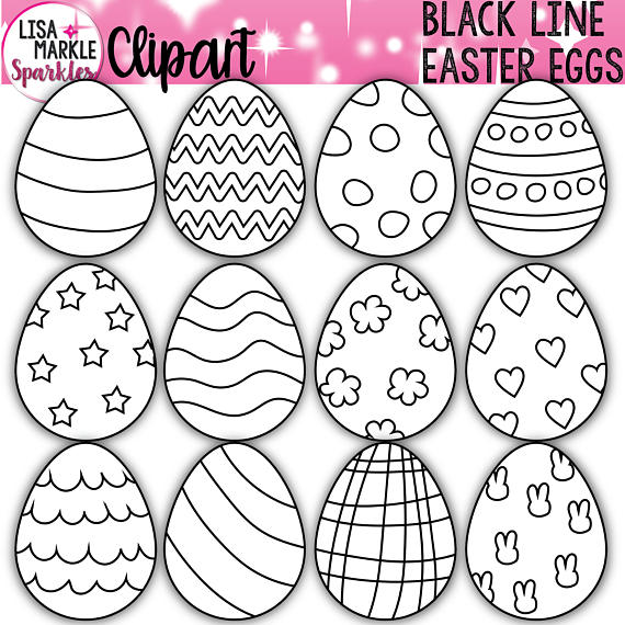 Egg spring black . Activities clipart easter