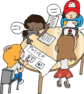 Learning vs group work. Psychology clipart cooperative