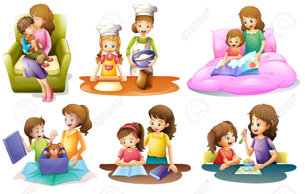 Baking family activity pencil. Activities clipart illustration