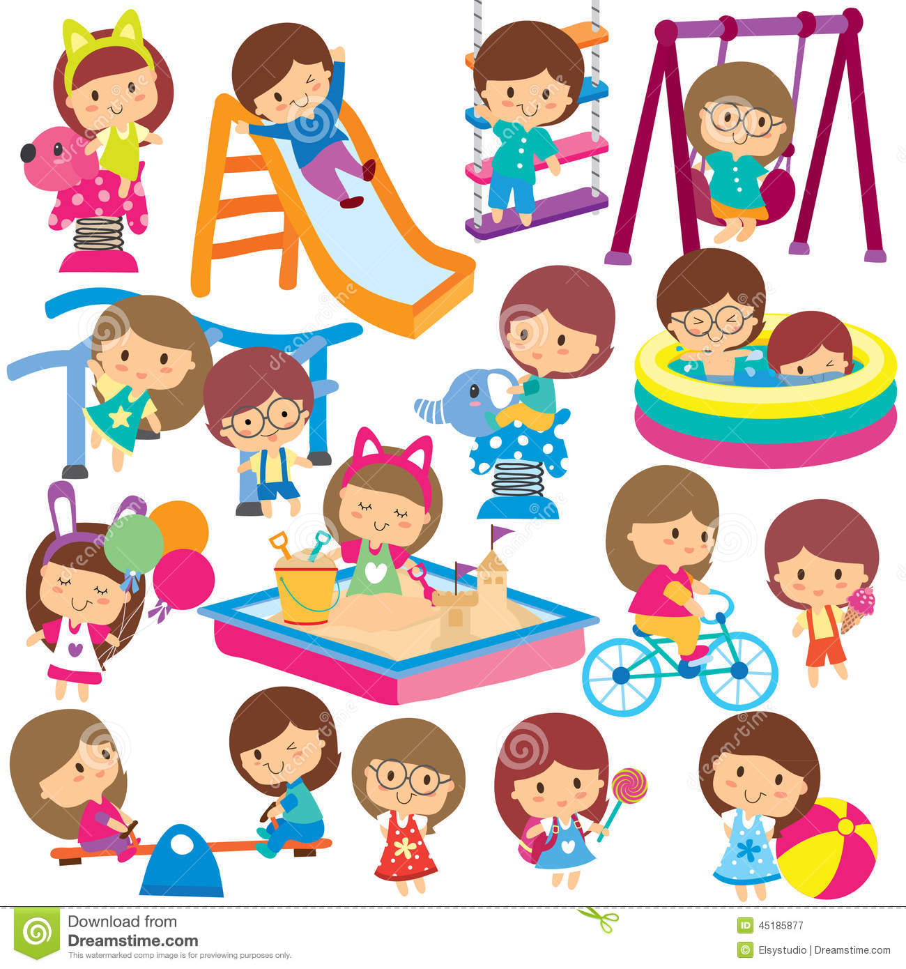 Activities clipart illustration. Collection kids clip art