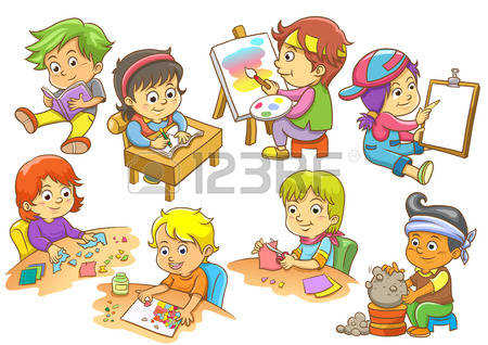 Clip art me. Activities clipart in school