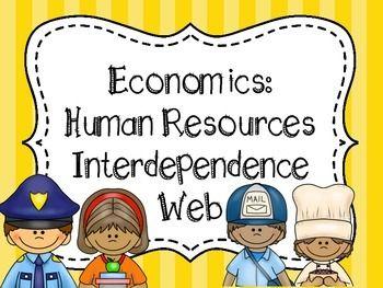 Activities clipart interdependence. Community helpers activity economics