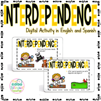 Activities clipart interdependence. Digital activity in english