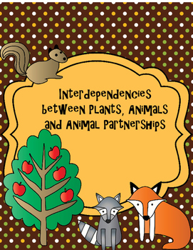 Plant and animal interdependencies. Activities clipart interdependence