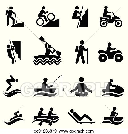 Activities clipart leisure. Clip art vector and
