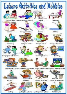 Hobbies and pinterest. Activities clipart leisure