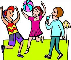 Activities clipart leisure. Free volleyball