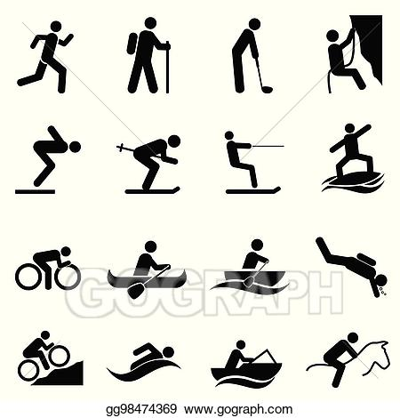 Vector art sports and. Activities clipart leisure
