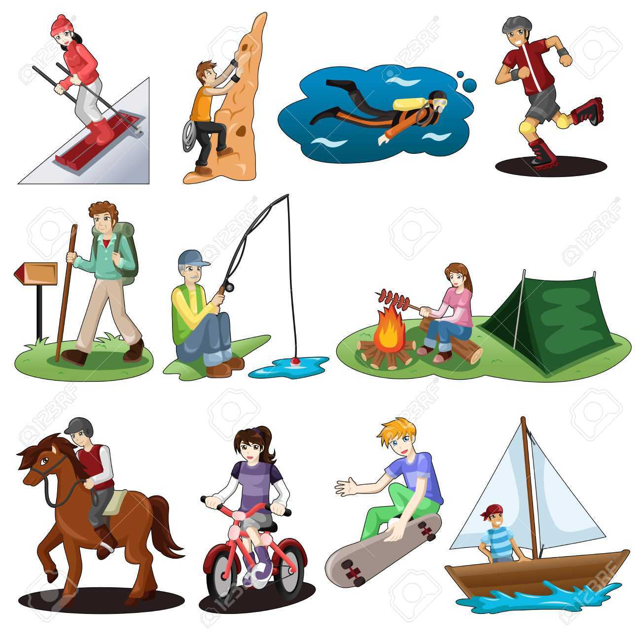 Activities clipart outdoor activity. Camping unique leisure pencil