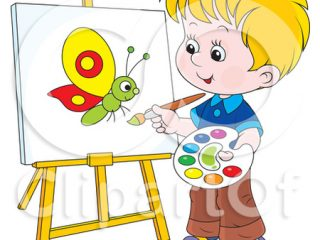 Activities clipart painting. Children kids coloring image