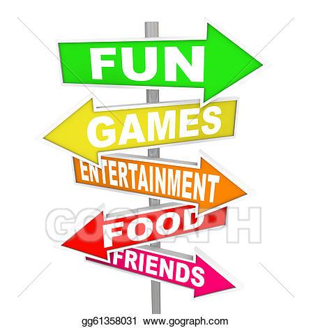 Activities clipart recreational activity. Stock illustrations fun entertainment