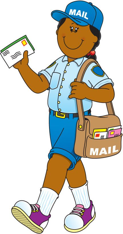 Activities clipart school community. Helper mail carrier learning