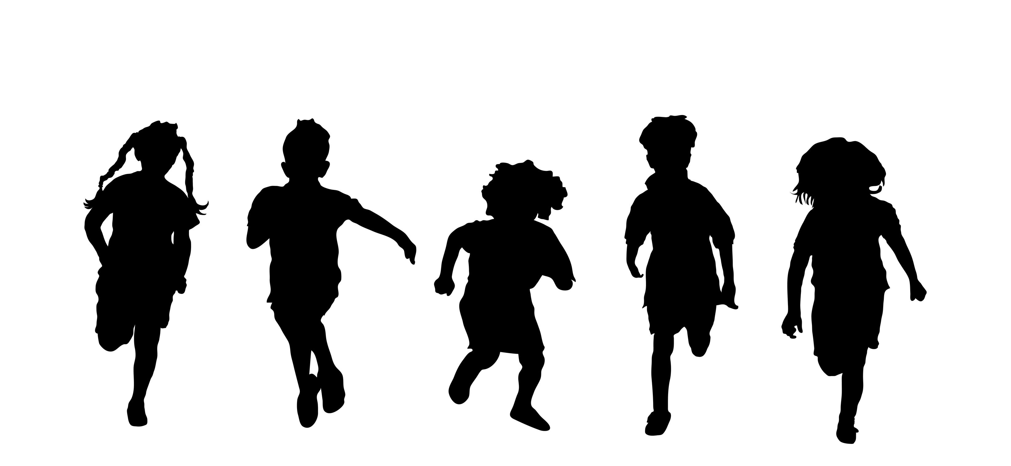 Activities clipart silhouette. Kids playing png pmp