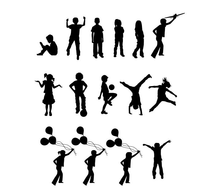 Children free at getdrawings. Activities clipart silhouette