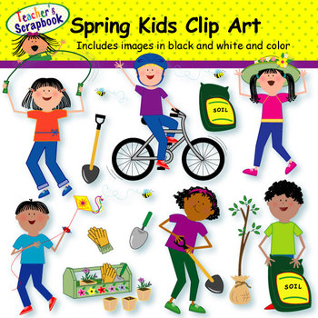 . Activities clipart spring season