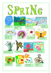 English worksheets worksheet cute. Activities clipart spring season