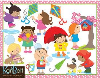 Activities clipart spring season. Clip art and by