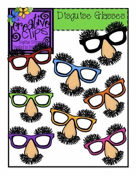 Disguise glasses creative clips. Activities clipart student activity